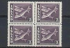 Iceland 1939 Sc# 218 Herring Fish 3a block 4 MNH