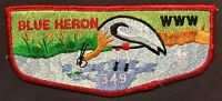 BLUE HERON OA LODGE 349 BSA TIDEWATER COUNCIL VA BLUE HERON RED BORDER FLAP