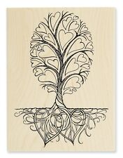 ROOTS OF LOVE Rubber Stamp R243 Stampendous! LARGE Brand NEW! family tree hearts