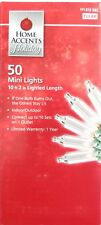 Home Accents Holiday 50 Clear White Mini Lights Green Wire Indoor/Outdoor
