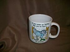 Vintage Russ Berrie Coffee Mug Over The Hill Cat
