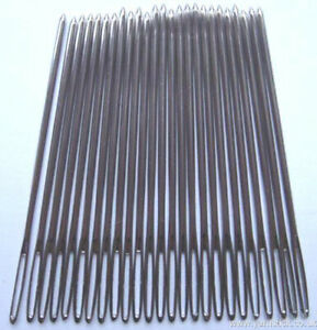 25 x Nickel Plated Tapestry Needles Without Point Size 16 Hand Sewing