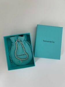 Tiffany & Co. Bead Bracelet with Enamel Blue Heart Tag [Small]