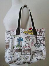 Brighton Handbag/Shoulder Bag White/Multi-Color Pattern