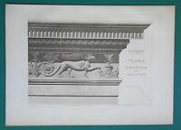 ROME Temple of Antonius & Faustina Entablature - 1905 d'Espouy Antique Print