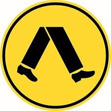 Pedestrian Crossing Traffic Sign Symbol Aluminium Class 1 Reflective R2-1A
