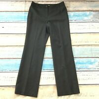 Ann Taylor Loft Womens Pants size 8 Gray Pinstriped Lined Straight x32 Career