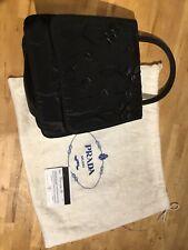 PRADA  Handtasche Clutch schwarz original mit Garantiekarte  Abendtasche Club