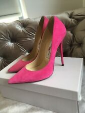 Jimmy Choo 'anouk' Pink Suede Court Heels Stiletto Pumps Shoes Size Uk 3 Eu 36