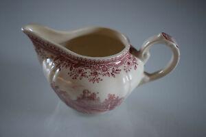 Villeroy & Boch V&B Burgenland rot/weiß Porzellan Milchkännchen