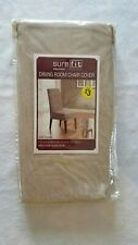 NEW Sure Fit® Stretch Pique Short Dining Room Chair Slipcover In Taupe