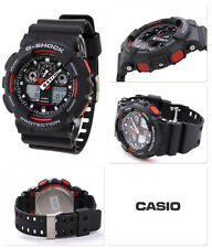 Black & Red Casio G-Shock Water Resistant Gents Sports Watch 2 Year Guarantee