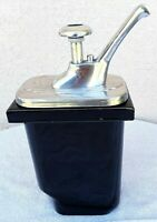 Vintage SS Ceramic Commercial NSF Chocolate Butterscotch Topping Pump Dispenser