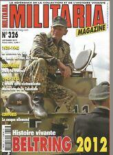 MILITARIA N°326 BELTRING / CASQUE ALLEMAND / BLOUSON DE G.I / ETUIS PA FRANCAIS