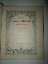 1842 Ancient Spanish Ballads Historical & Romantic Lockhart Color Plates Illust