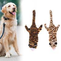 Tiger/Leopard Print Plush Pet Dog Sound Toys Bite Resistant Chew Squeak Toy