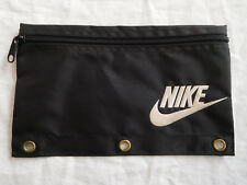 Vintage Nike Pen Pencil Bag Pouch Fabric Case 3 Three Ring Binder Holes 1995 90s