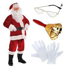 Deluxe Regal Plush Men's Santa Claus Father Christmas Suit Fancy Dress Costume I