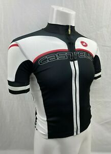 Castelli Summer Aero Short Sleeve Cycling Jersey Black White Red SM Small