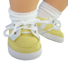 For Bitty Baby Dolls; Yellow Gym Shoes Doll Clothes 2 5/8 by 1 1/2 inches
