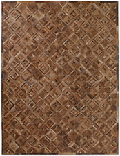 Restoration Hardware Diamond Marled Cowhide Rug Handmade 9x12 ft  $5349 MSRP