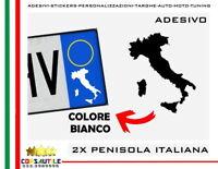 PENISOLA ITALIANA ADESIVO PER TARGA AUTO MOTO CAMPER ACCESSORIO STICKERS 2PZ SG