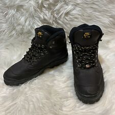 Vintage 90s Nike AIR ACG Hiking Trail Boots Mens Size 10.5 Brown Leather 1995