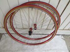 MAVIC RED HELIUM RIMS 8/9/10 WHEELS 700C SEW UPS  ROAD  BICYCLE
