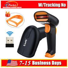 2.4G Handheld Laser Scan Barcode Bar Code Scanner Reader Gun POS Label Fr Win7/8