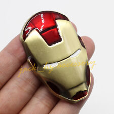 Metal Red Coated Ironman Mask Latest Vehicle Part Emblem Badge Decal Accessories
