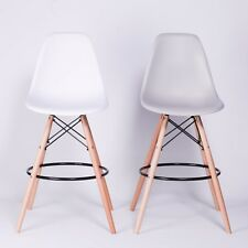 CHARLES EIFFEL TULIP SCANDINAVIAN INSPIRED MODERN BREAKFAST BAR STOOL CHAIR WOOD