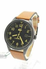 Lacoste 2011021 Black Dial Brown Leather Strap Men's Watch