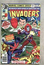 Invaders #34-1978 vg- Captain America Union Jack