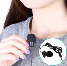 External 3.5mm Clip-on Voice Tube Lapel Lavalier Microphone Mic for PC Laptop