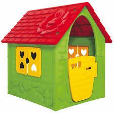 Dohany Spielhaus grün rot Kinderspielhaus Gartenhaus Indoor Outdoor +2J