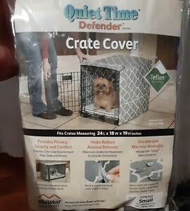 Small Quiet Time Defender Series Dog Crate/Cage Cover Gray Teflon Washable NIP