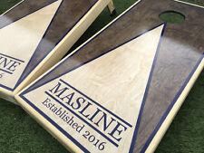 Inverse Dual Stain Triangle Custom Cornhole Boards