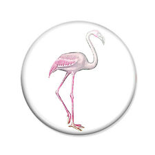 Badge FLAMAND ROSE Pink Flamingo kawaii miami mode pop vintage retro pins Ø25mm