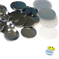 200 Stück 59 mm Buttonrohlinge, Ansteckbuttons mit Sicherheitsnadel Badgematic