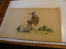 Art from 1915 the Cowboys of Cut-out Ranch by W S Phillips:cowboy bucking bronco