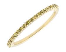 10k Yellow Gold Ladies Canary Diamonds Wedding Engagement Eternity Ring Band
