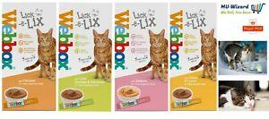 Webbox Cat Delight Lick-e-Lix Yoghurt Cat Food Treat,Chicken,Cheese,Salmon,liver