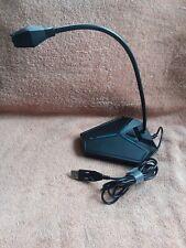 USB Computer Microphone, Plug &Play Desktop Omnidirectional (black)