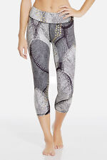 NWT Fabletics *Sold out* Salar Capri in Small in Foiled Flurry with Gold Dots