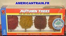 Pack de 4 arbres Automne 9cm HO/N/O/S Life-Like