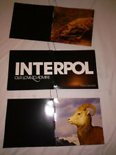 INTERPOL - Our love to admire-  HANGING MOBILE Poster - RARE Promo Only Capitol