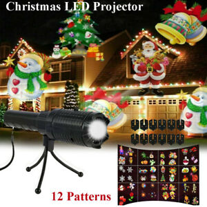 Moving Christmas Santa Snowflake LED Projector Light Lamp Laser Party Xmas Decor