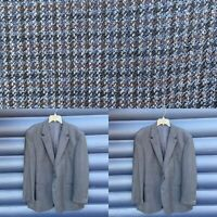 Lauren Ralph Lauren Men's 46 L Blue Herringbone Sport Coat Lambs Wool Green Lab