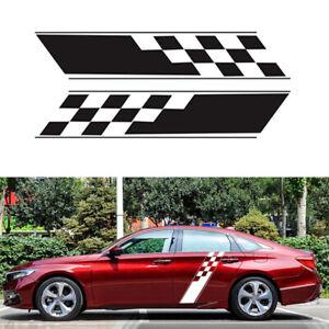 Pair 130cm Racing Stripes Camouflage Decal Car DIY Sides Door Fender Stickers