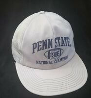 Vintage PENN STATE 1986 NATIONAL CHAMPIONS Snapback Trucker Hat Cap OSFA USA